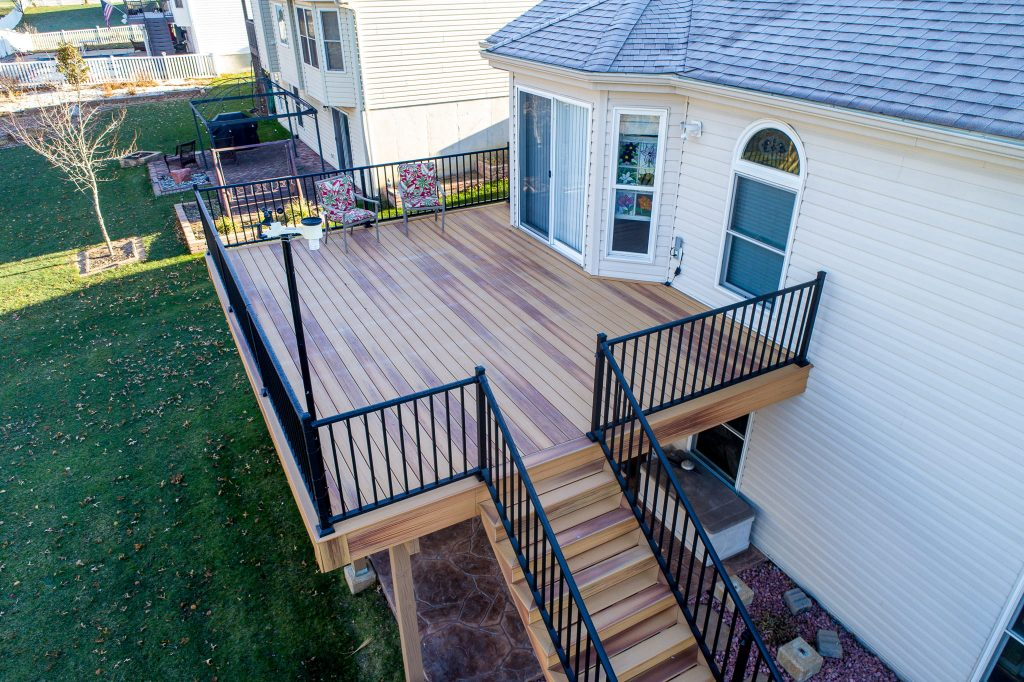 A new custom deck for a home in St. Louis, MO.